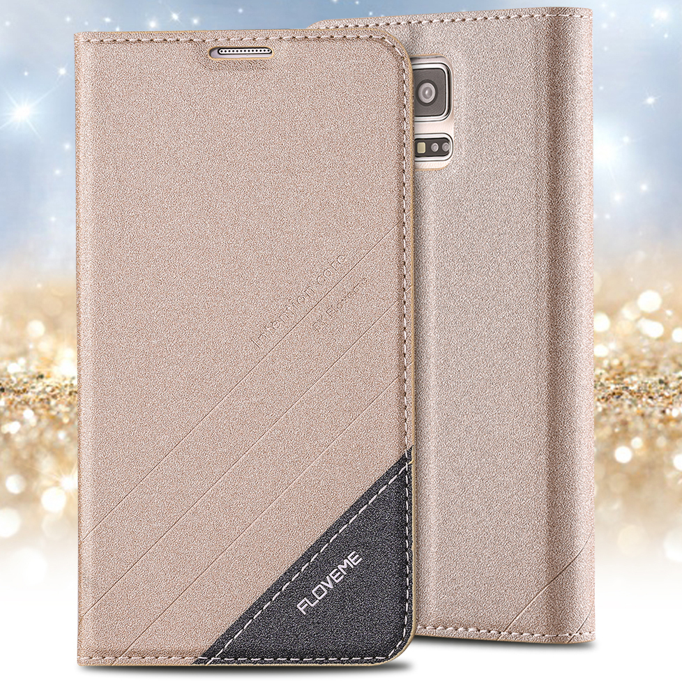Luxury Full PU Leather Pouch Case With Stand Function For Samsung Galaxy S5 SV i9600 Slim Vintage Card Insert Wallet Phone Cover(China (Mainland))