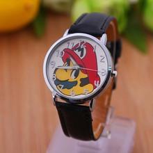 Famoso personaje de dibujos animados Mario para los niños reloj de cuarzo de cuero con correa de pulsera 2014 nueva moda del envío gratis