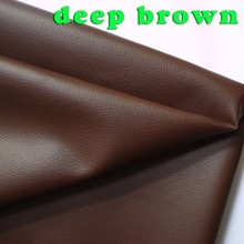 deep brown Small Lychee PU leather, Faux Leather Fabric, PU artificial leather. Upholstery leather, BY THE YARD, FREE SHIPPING(China (Mainland))