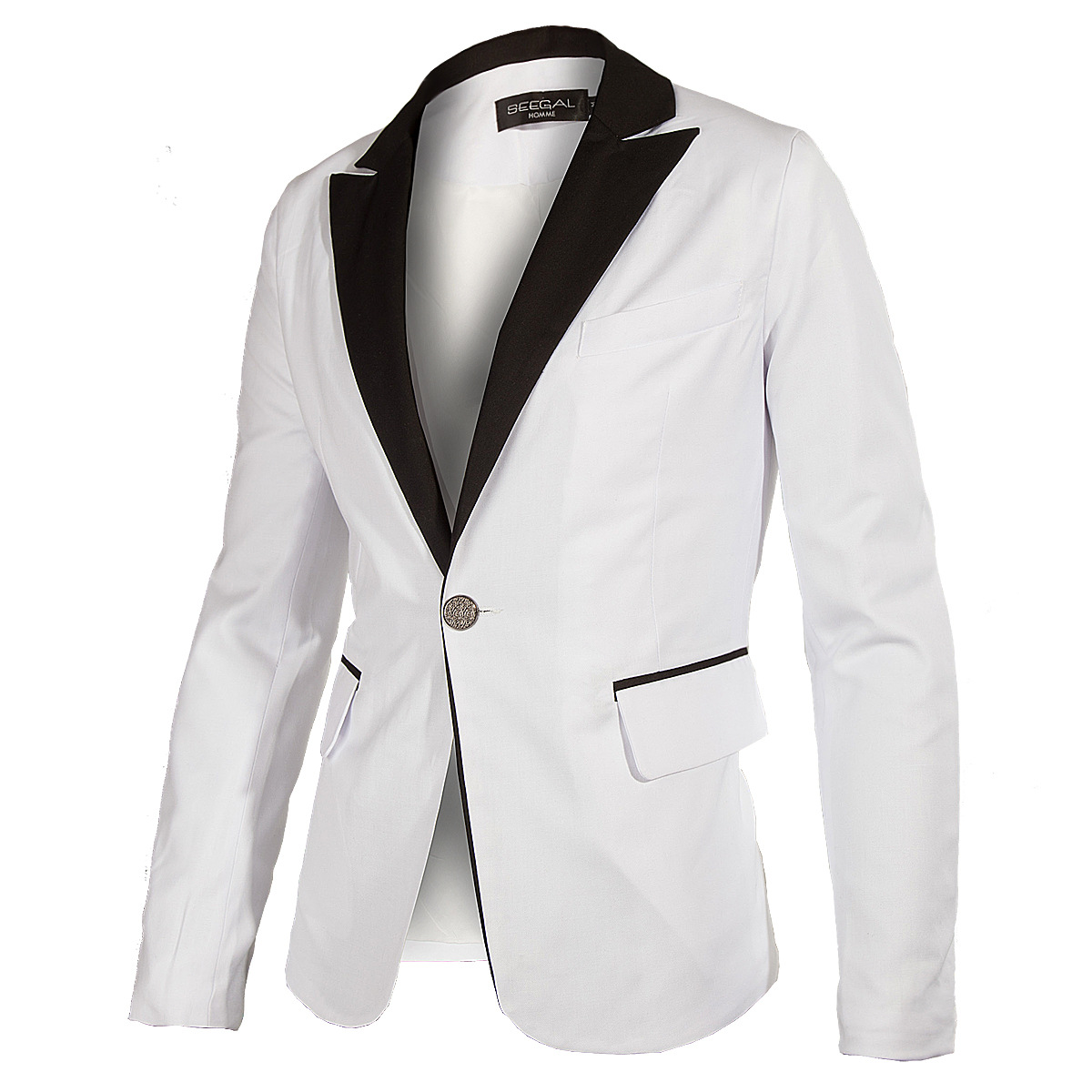 Blazer Men 2015 New brand men's clothing white blazer outerwear suit fitness casual suits men blazers jacket coats for men(China (Mainland))