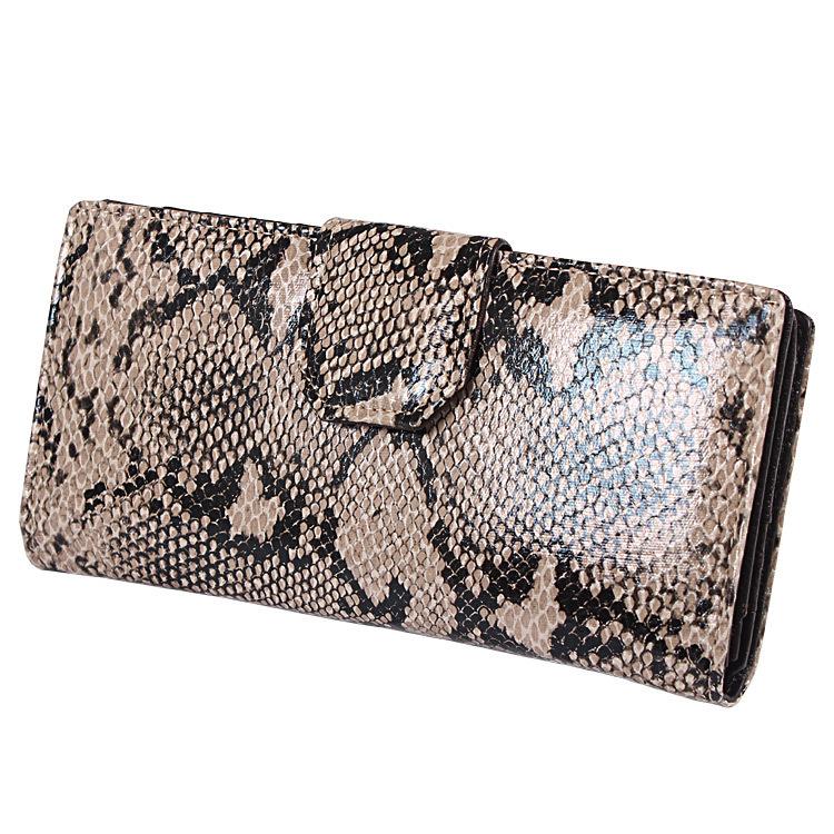 New Arrival 3 colors Women Snakeskin wallets women genuine leather wallet Female Snakeskin purse Wholesale(China (Mainland))