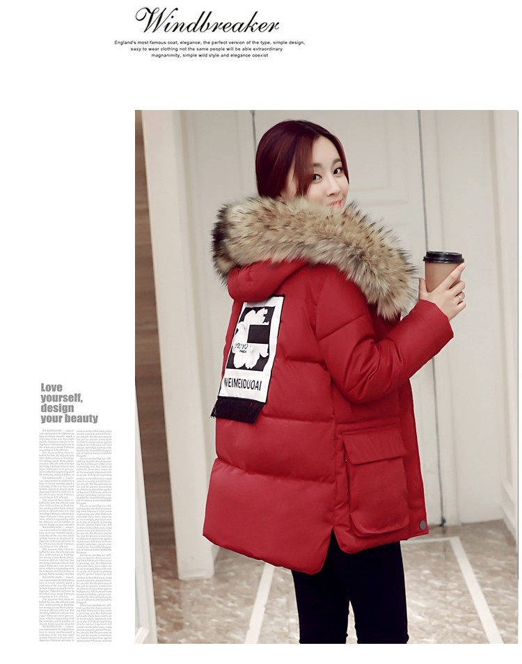 Women's Hooded Cotton-Padded Jacket Winter Medium-Long Cotton Coat Plus Size Down Jacket Female Slim Ladies Jackets Coats HM073