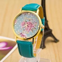 SW 094 New Fashion Geneva Watches Women Floral Quartz Watch Daisy Flower Watch hours Leather Dress