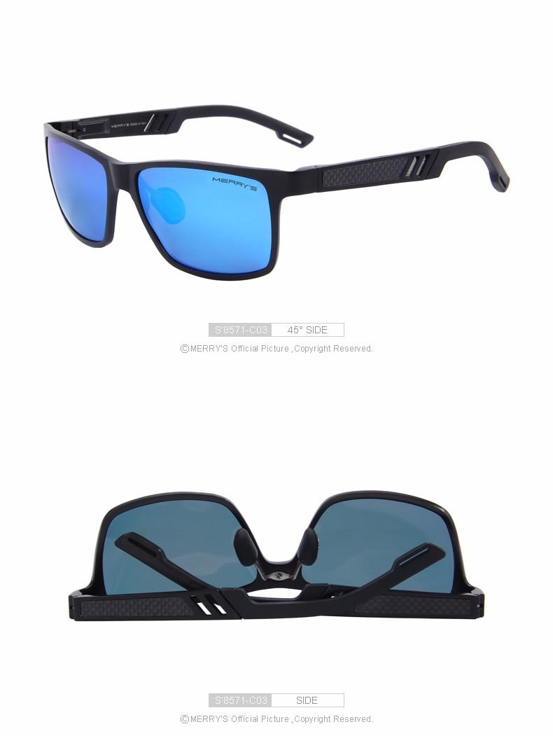 MERRY'S Fashion Aluminum Magnesium Polarized Sunglasses Men Sun Glasses UV400 Driving Eyewear oculos Shades S'8571