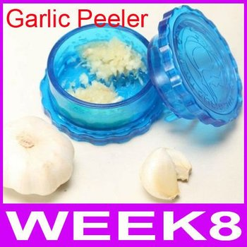 Free Shipping Garlic Crusher Peeler Spice Mincer Stirrer Presser Slicer Ginger Clear Kitchen Tool Useful