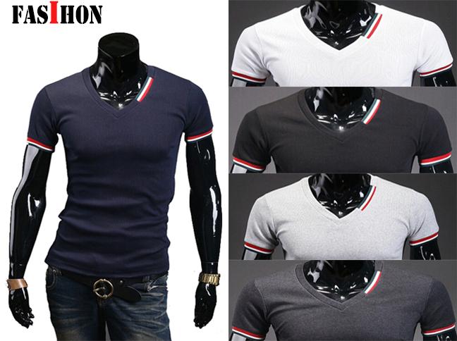 Мужская футболка T shirt FASIHON 2015 T CaMisa Masculina v/T M XXL