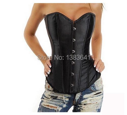 plus size sexy women strapless open bra black white corset