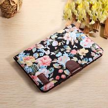 Del 1PC Floral Flip Leather Wallet Cover Case For Apple ipad mini 2 Retina Feb25(China (Mainland))