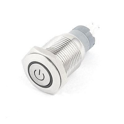 DC 12V Red Angel Eye LED SPDT 16mm Thread Momentary Metal Push Button Switch(China (Mainland))