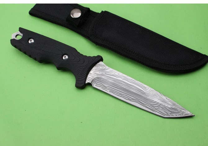 Buy LM 037 Camping Fixed Knives,5Cr13Mov Blade Rubber Handle Hunting Knife,Survival Knife cheap