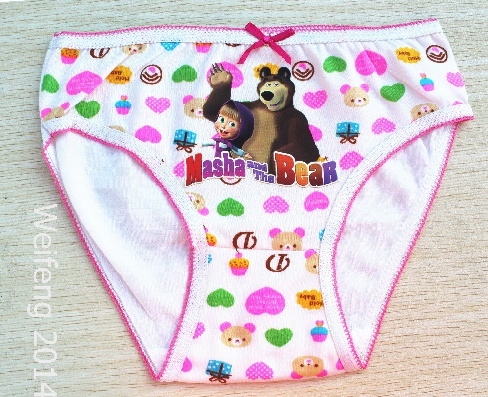 panty kids 2015 cotton girl panties mixcolor cartoon children girl panties kids girl bear underwear girl briefs masha3 10y-in Panties from Mother & Kids on ...
