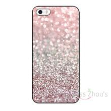 For iphone 4/4s 5/5s 5c SE 6/6s 7 plus ipod touch 4/5/6 back skins cellphone cases cover Girly Pink Snowfall Custom Design