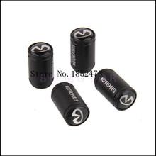 Infiniti Logo Black Aluminum Alloy Polish Car Wheel Tire Valve Caps Auto Tyre Air Stem For Infiniti Q50 Q70 QX50 QX60 G25 G37(China (Mainland))