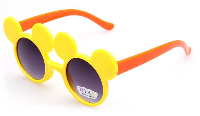 Милый Мультфильм Цвета Мышь Ребенок Защита Модные Солнцезащитные Очки Девочка Дети Симпатичные Chiledren Очки