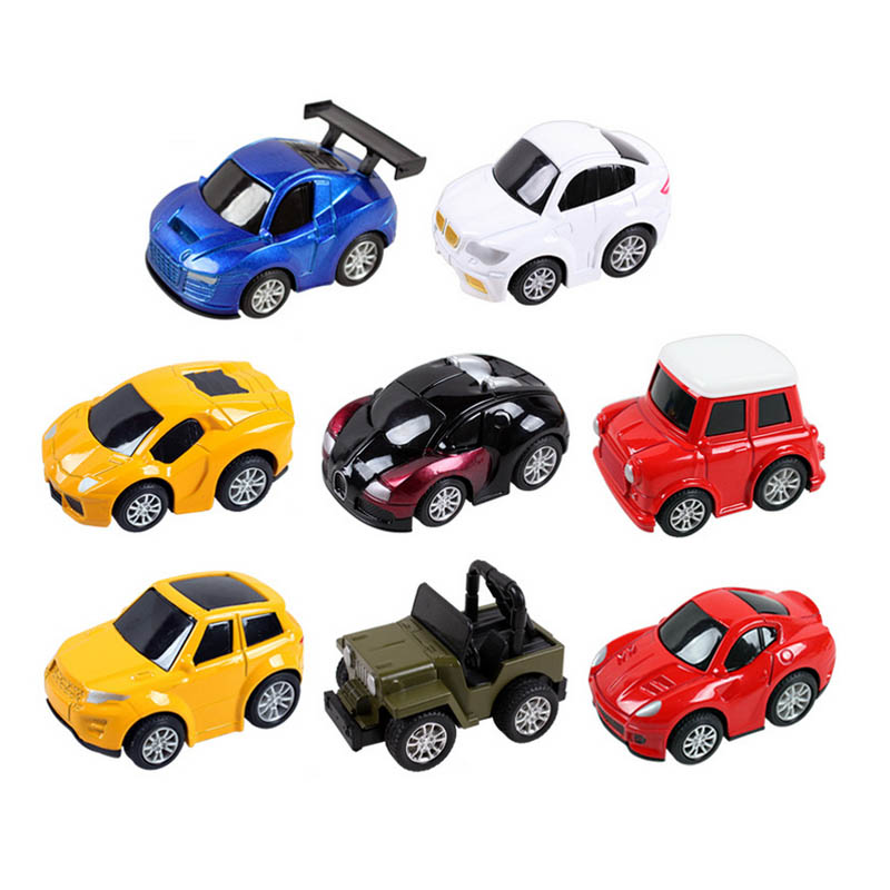8pcs/lot Kids Cute Cartoon Mini Famous Metal Pull back Supper Car Model Toys(China (Mainland))