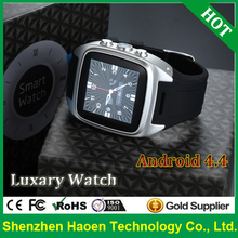Free ship Waterproof Android4.4 Watch Phone Luxary Android Watch with Bluetooth 4.0 Headset earphone for GPS 3G Android Watches(China (Mainland))