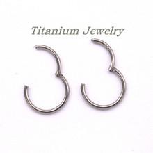 Навесной Сегмент Небольшой Обруч Серьги для Мужчин Женщин Открыть Закрыть 8 мм/10 мм Круг G23 Titanium Ювелирные Изделия(China (Mainland))