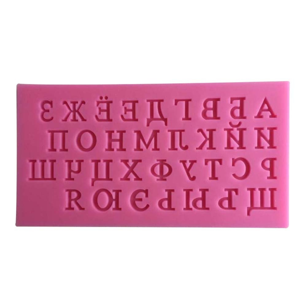 New Arrival Russian Alphabet Cake Mold Fondant Cake Molds Soap Chocolate Mold For The Kitchen Baking Cake Tools-C492(China (Mainland))