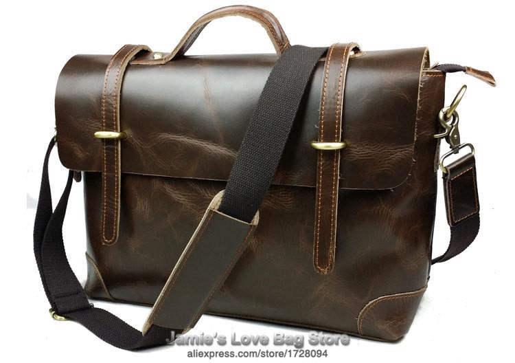 Здесь можно купить  New 100% Genuine Leather Crossbody Messenger Bag Cowhide Men Male Brand Simple Casual Vintage Laptop Business Briefcase Satchel  Камера и Сумки