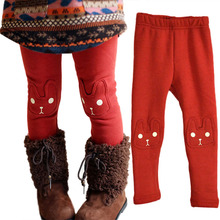Buy 95%Cotton+Fleece Cute Rabbit Girls Child Pants Bottoms Kids Baby Toddler Fleece Leggings Trousers 2-7Y New for $4.06 in AliExpress store