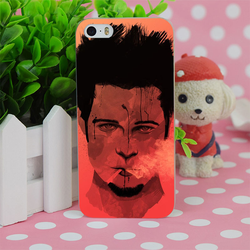 B4128 Tyler Durden Fight Club Transparent Hard Thin Case Cover For Apple iPhone 4 4S 5 5S SE 5C 6 6S 6Plus 6s Plus(China (Mainland))
