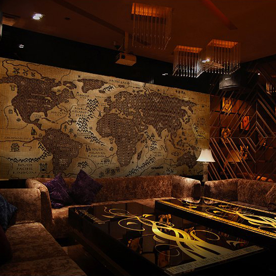 Customized world map murals of background wall coffee shop for Mural coffee shop