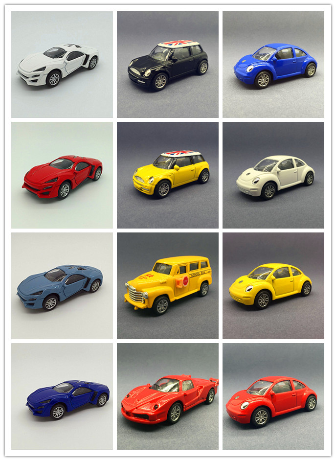 Boxed Speed and Passion 7 Boxed Alloy car model Fast & Furious 10cm Lycan Sports car Beetle Mini school bus Pull Back Metal cars(China (Mainland))