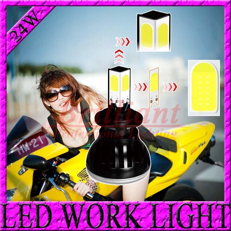0.1s Fast Bright 24W H4 H6 H7 6-36V Motorcycles LED HeadLight High Low Bulb Conversion Beam Driving Headlamp Moto Light Lamp Kit(China (Mainland))