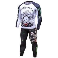Nova marca ufc bjj mma trabalhar para fora compressão rashguard t camisa dos homens vs pk exercício 3d fitness collants bodybuild cruz ajuste rash guard(China)