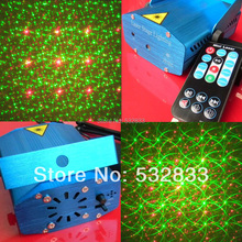 Remote control 6 patterns mini laser DJ disco party garden KTV nightclub light  stage laser light RS096M(China (Mainland))