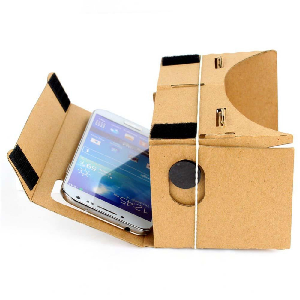 High quality DIY Magnet Google Cardboard Virtual Reality VR Mobile Phone 3D Viewing Glasses 5.0″ ScreenGoogle VR 3D Glasses
