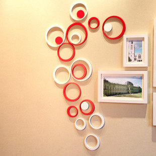 Circle three-dimensional stickers wall decoration color - Pontian girl's store