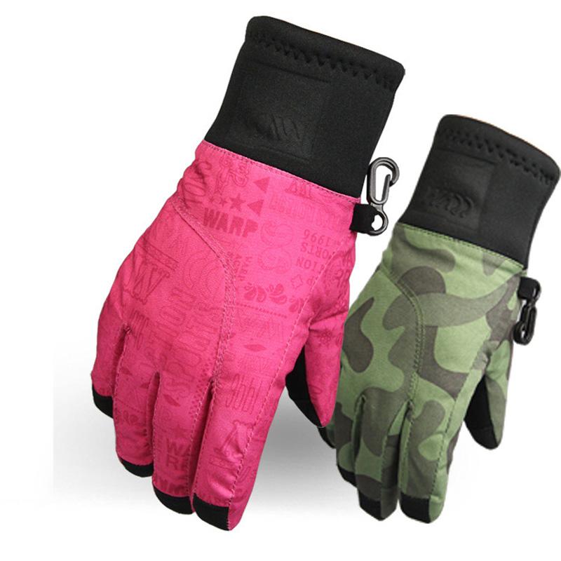 Waterproof Warm Wear-resistant Children's Ski Gloves Thinsulate Waterproof Velcro Kids Skiing Snowboard Gloves S~XL(China (Mainland))