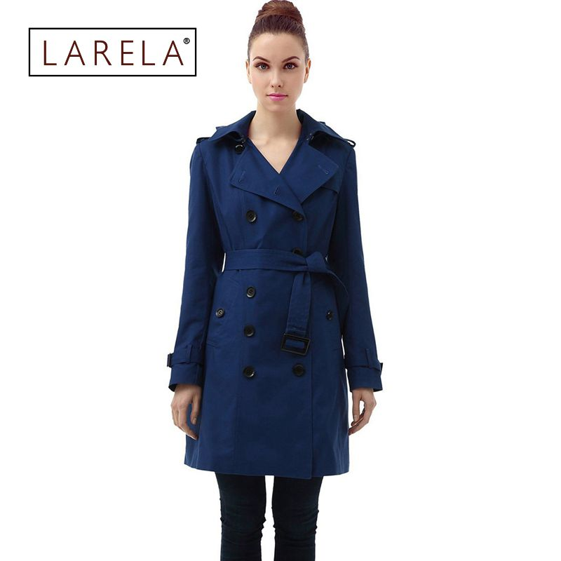 Warm Trench Coat 2016 New Fashion Women Slim Medium-Long Cool Coats Double Breasted Winter Hooded Trench Coat For Women RE371(China (Mainland))