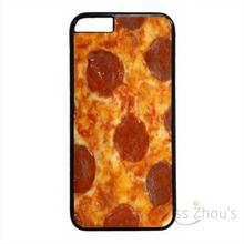 For iphone 4/4s 5/5s 5c SE 6/6s plus ipod touch 4/5/6 back skins mobile cellphone cases cover Cute Funny Pizza Pepperoni Food