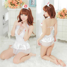 Buy 2017 Cosplay Women's Sexy Costumes Porn Erotic Lingerie Nurses Uniforms Sex Products Backless Dress Underwear Role Play 7051
