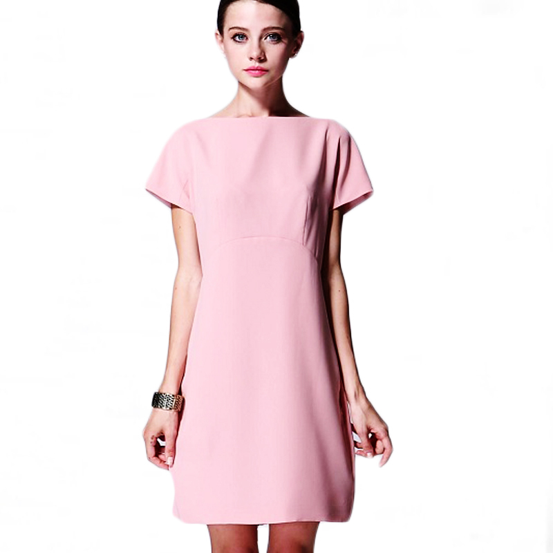 Simple Womens Pink Dress