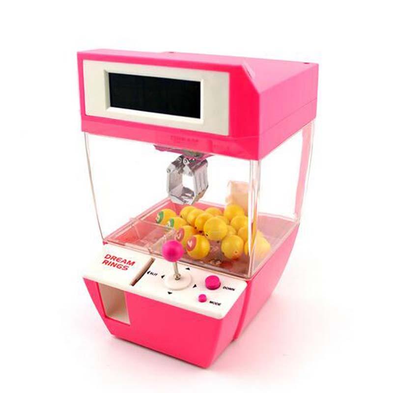 New Mini Children Doll Machine Clip Doll Machine Grab Doll Machine Game Machine Electric Toy Early Education Toys Birthday Gift(China (Mainland))