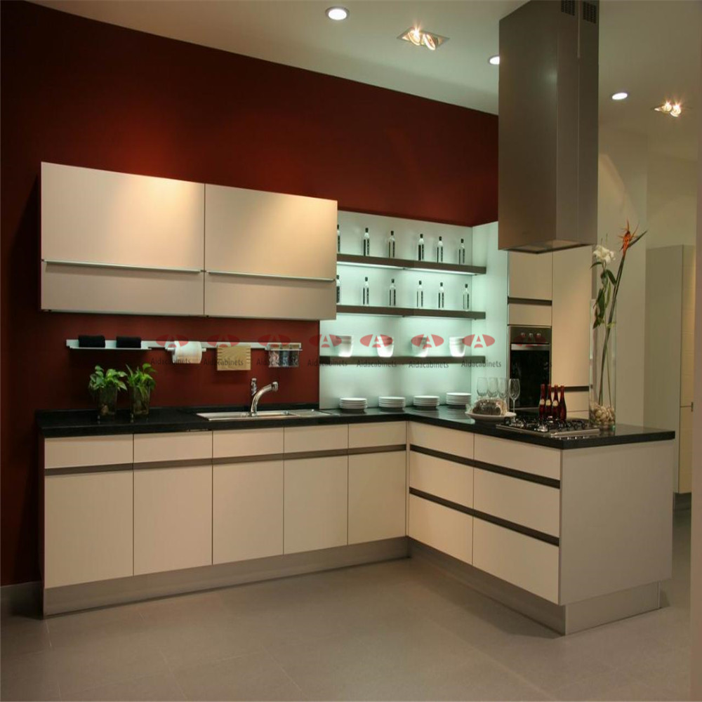 Modern stainless steel L sharp kitchen cabinets sale with corner cabinet(China (Mainland))