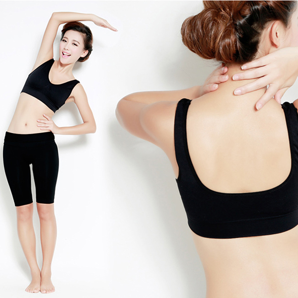 Women Sexy Leisure Crop Top Vest Sports No Rims Padded Bras Tank Tops Gym Vest Lengerie For(China (Mainland))
