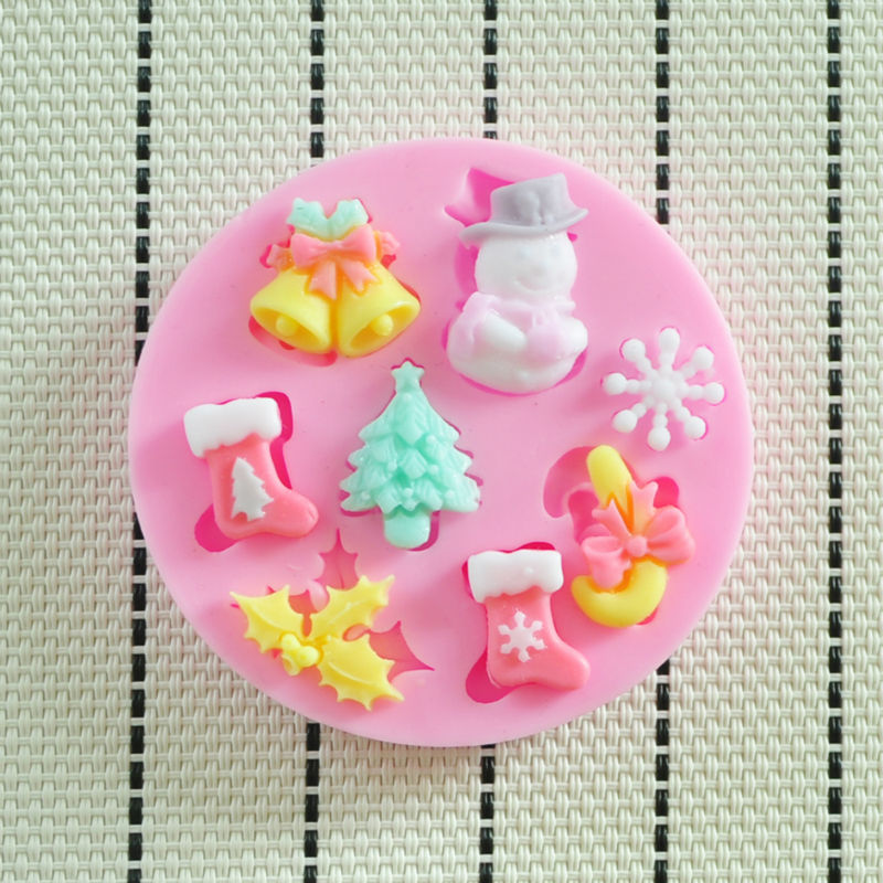 Christmas Cake Decoration Molds : Aliexpress.com : Buy 2015 NEW beautiful Christmas silicone ...