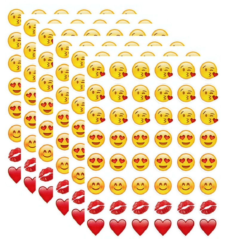 New 48 Die Cut Emoji Smile Sticker for Laptop for notebook, message*High Quality Vinyl*funny*creative(China (Mainland))