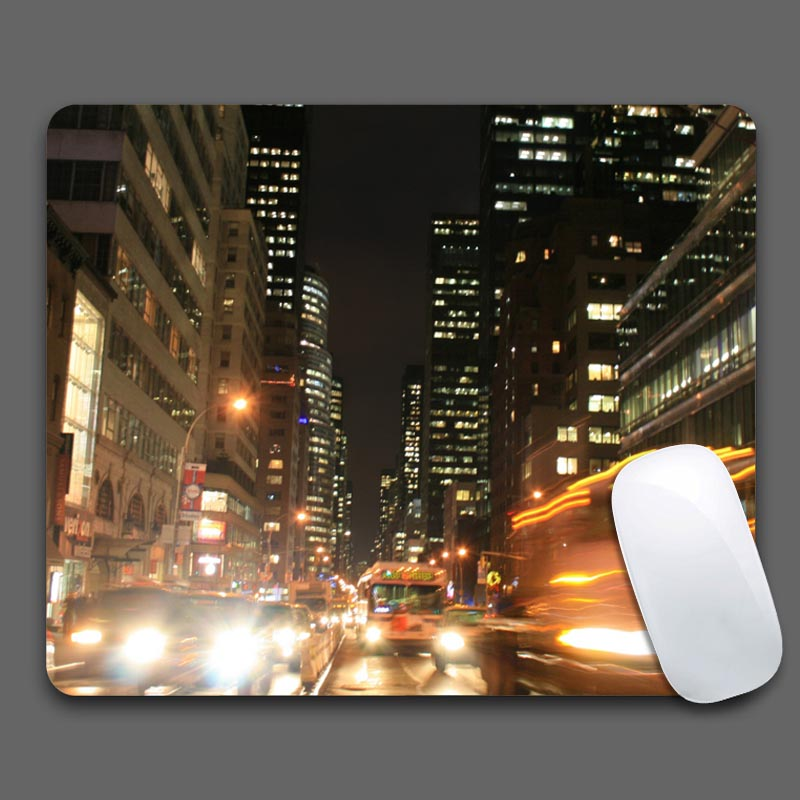 th avenue rush hour Rubber Soft Gaming Mouse Games 180mmX220mmx2mm Black Desk Mousepads