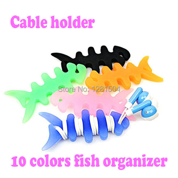 Wholesale 3000pcs/lot High quality Fish Bone Earphone Cable holder Winder Organizer For MP4 MP3 iPhone Free Shipping(China (Mainland))