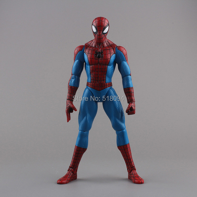 """Spiderman Toys Marvel Superhero The Amazing Spider-man PVC Action Figure Collectible Model Toy 8"""" 20CM Free Shipping HRFG255(China (Mainland))"""