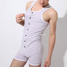 Mans One piece Swimsuit Full body Swimwear Wrestling singlet Gym Outfit Hot Looking Workout Unitards Bodywear
