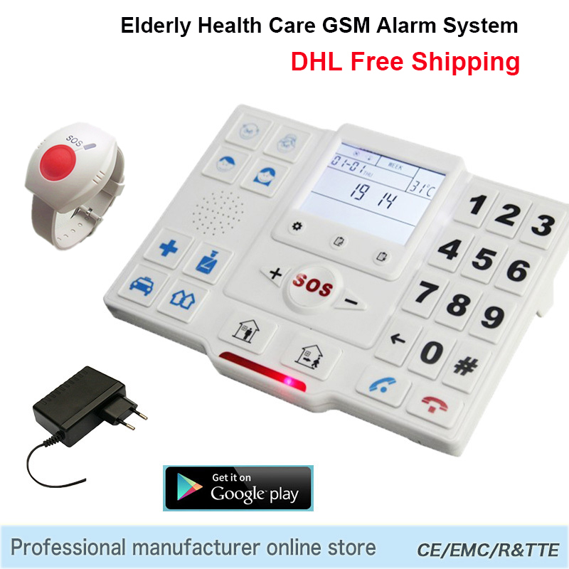 Telephone Alarm System Wireless APP Control Home Security Burglar GSM SMS Elderly Care Panel SOS Call Temperature Monitoring T2(China (Mainland))