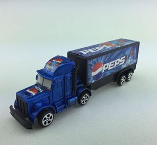 n 2015, Pepsi inertial toy car back container trailer children's educational toys cool model free shipping(China (Mainland))