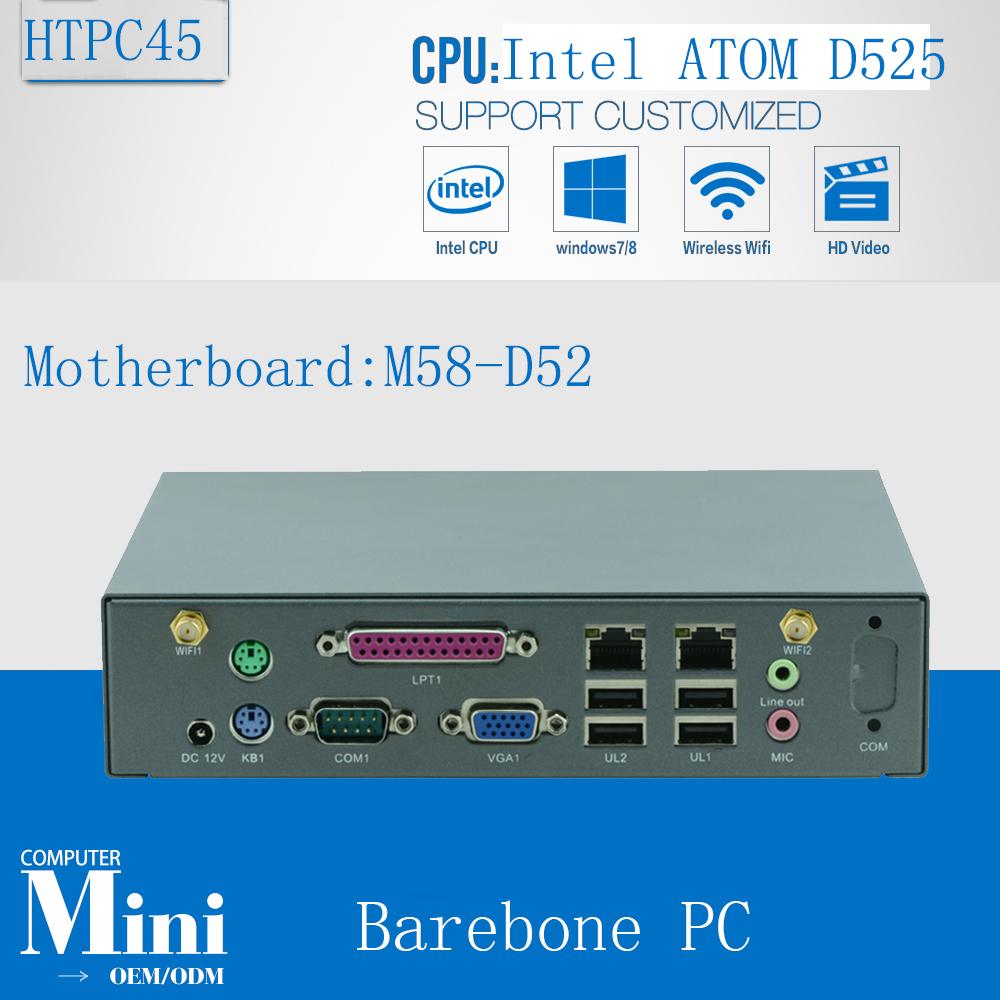 2016 New mini pc board mini server Micro Linux Server Support wireless keyboard, mouse D525 barebone(China (Mainland))