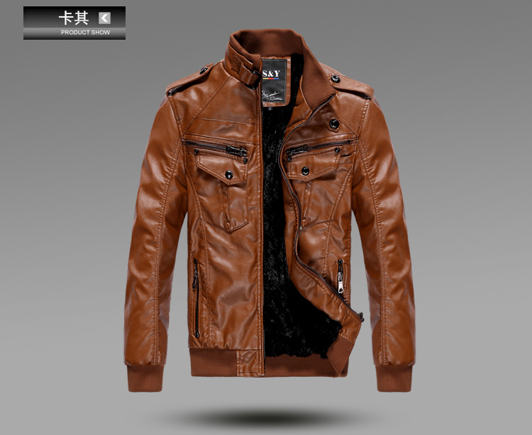 Buy Leather Jacket Men - Coat Nj